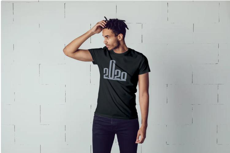 T-Shirt med tryck. Fuck 2020 Tshirt , Print Tshirt