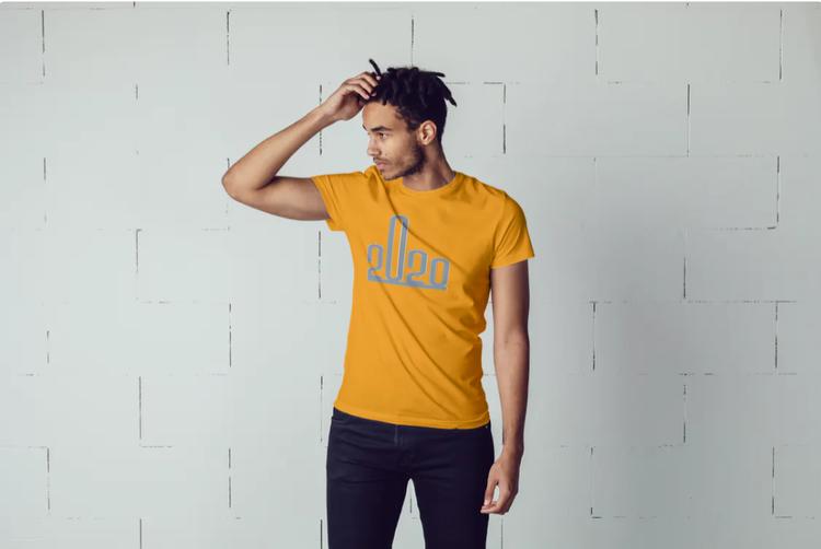 T-Shirt med tryck. Fuck 2020  , Print Tshirt