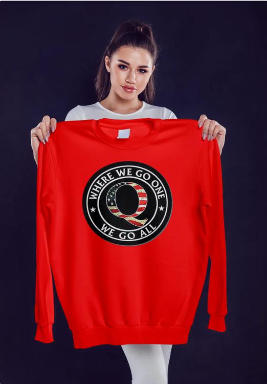 Q One all Go-Stars Sweater-Unisex-Röd