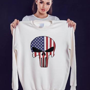 US Skull Sweatshirt Unisex
