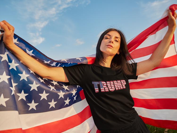 Trump Support T-Shirt  Dam