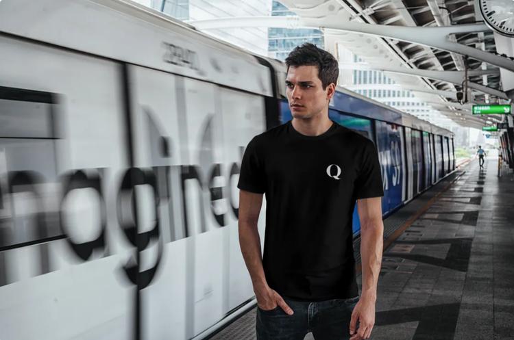 Q T-Shirt Herr