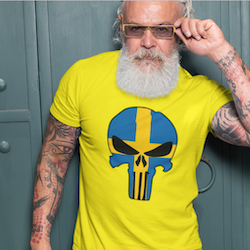 Swedish Skull T-Shirt Herr