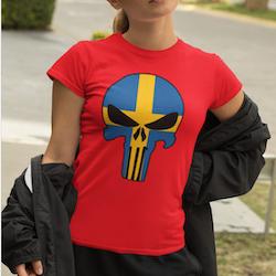 Swedish Skull T-Shirt Dam