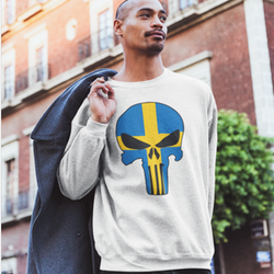 Swedish Skull Sweatshirt Unisex