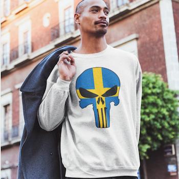Swedish Skull Sweatshirt Unisex