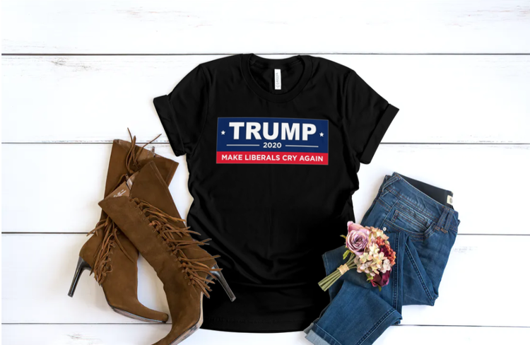 US Election 2020 Svart T-Shirt Dam
