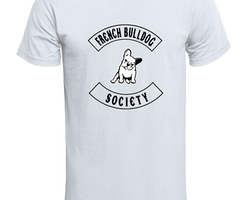 Fransk Bulldog  Society T-Shirt Barn