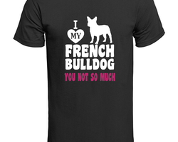 Fransk Bulldog  Love My My Frenchi T-Shirt Barn