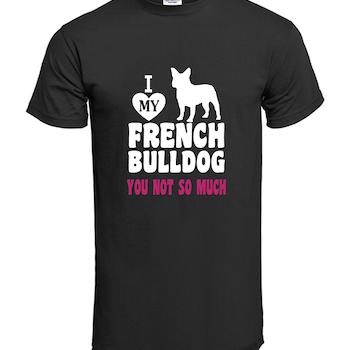 Fransk Bulldog  Love My My Frenchi T-Shirt Barn