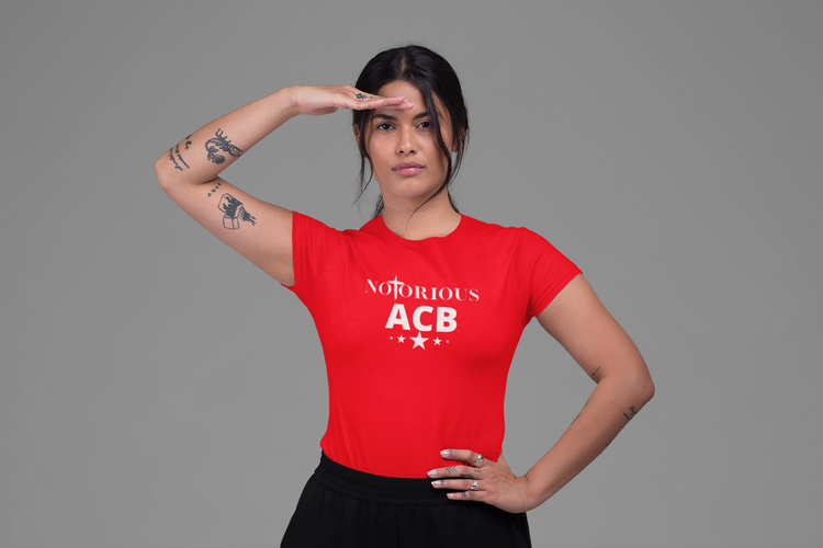 Notorious Amy Coney Barrett Tshirt-Röd