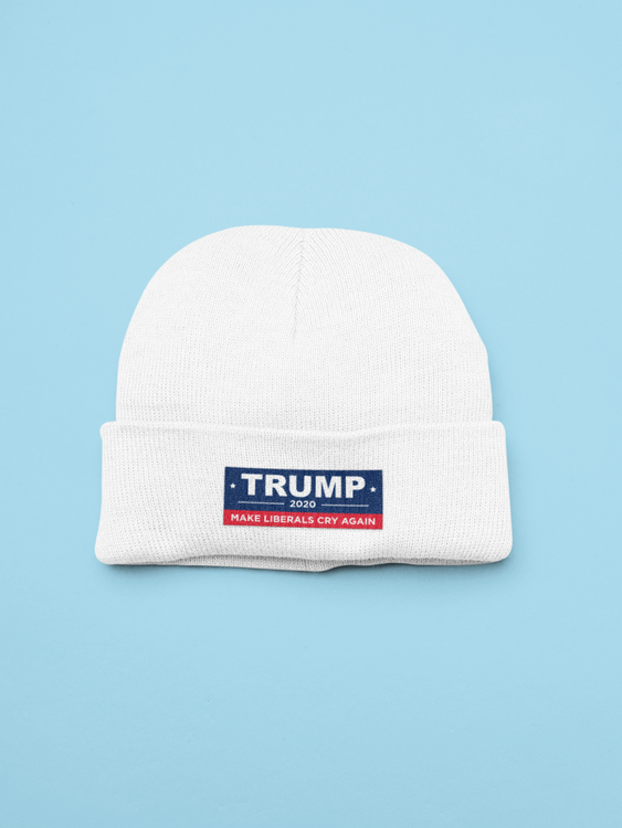 Trump Make Liberals Cry Again 2020 Beanie One Size