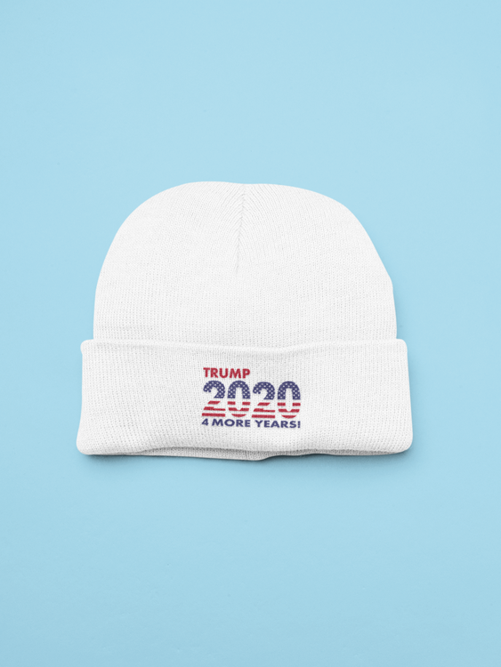 4 More Years Beanie One Size