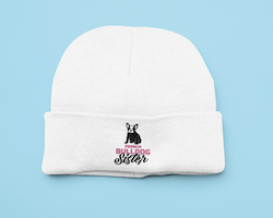 French Bulldog Sister Beanie One Size