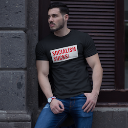 Socialism Sucks! T-Shirt Herr