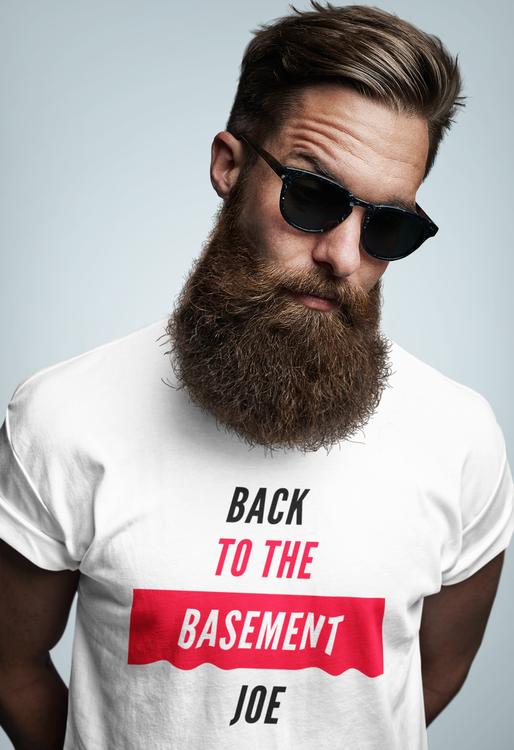 Tshirt Men. Back To The Basement Joe T-Shirt Men. Anti Joe Biden T-Shirt