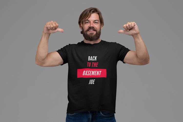 Tshirt Men. Back To The Basement Joe T-Shirt Men. Joe Biden T-Shirt