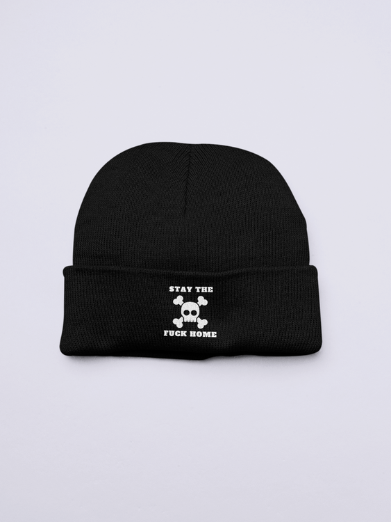 Stay The Fuck Home Beanie One Size