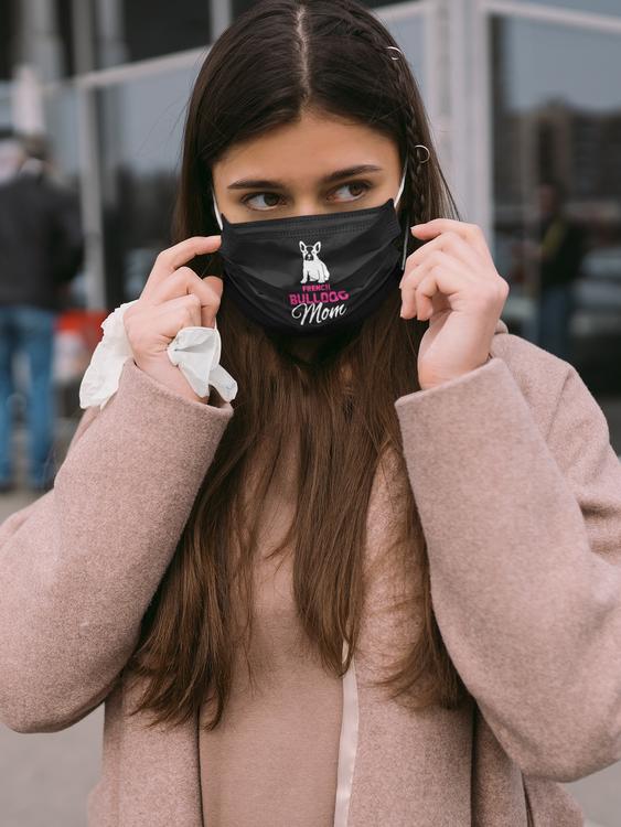 French Bulldog Face Mask- Fransk Bulldog Ansiktsmask