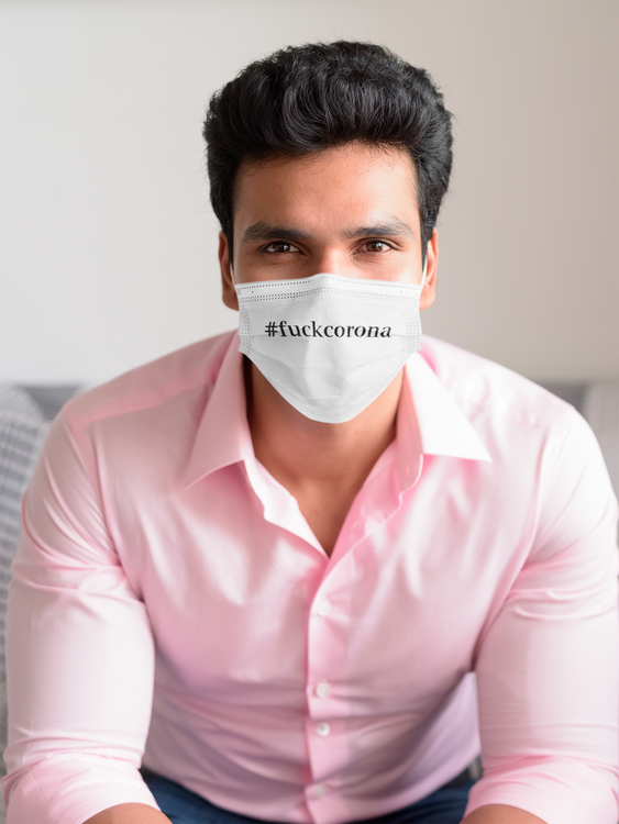 Ansiktsmask-Face Mask-Fuck Corona