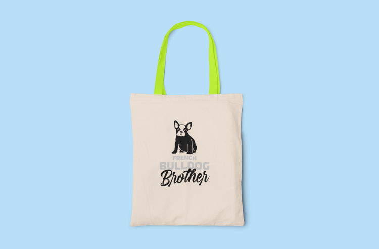 Fransk Bulldog Brother Tygkasse- French Bulldog Brother Tote Bags