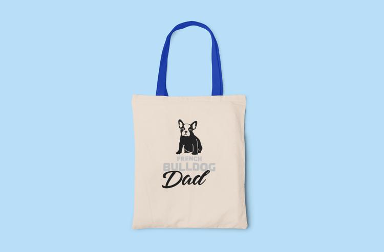 Fransk Bulldog Dad Tygkasse- French Bulldog Dad Tote Bags