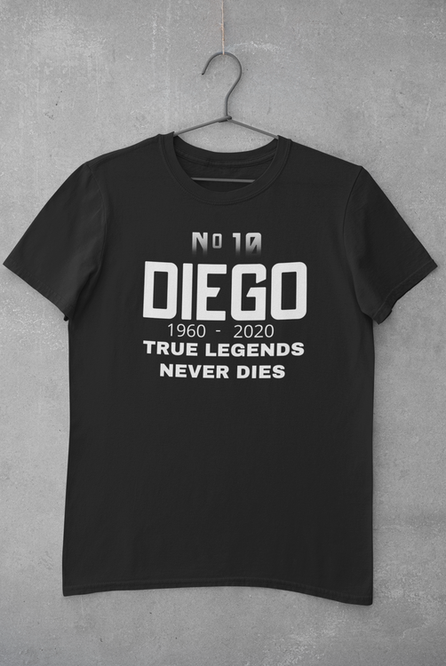 Maradona Tshirt med tryck, T-Shirt Diego Maradona No 10
