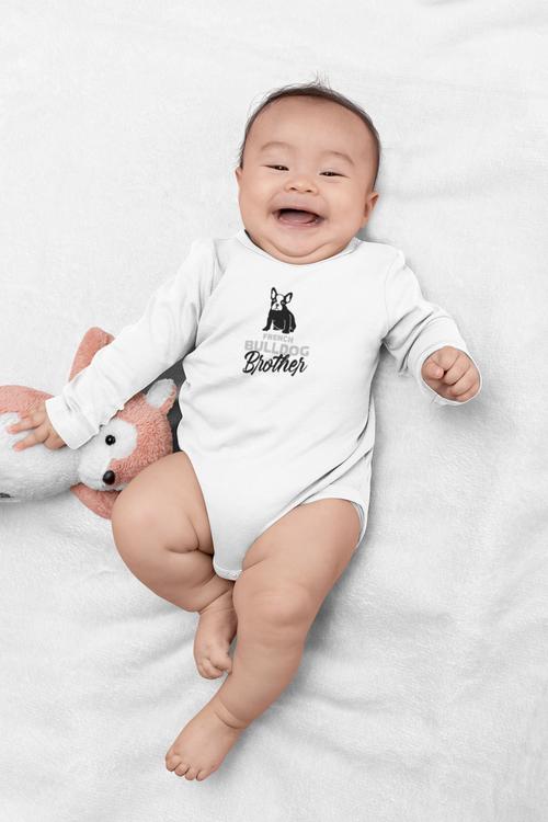 Fransk Bulldog Family Baby Body- French Bulldog onesies