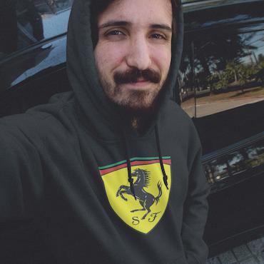 Ferrari Hoodie Herr