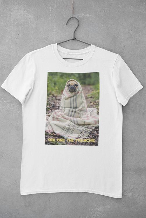 Fransk Bulldog T-Shirt, Frenchie T-Shirt Men White