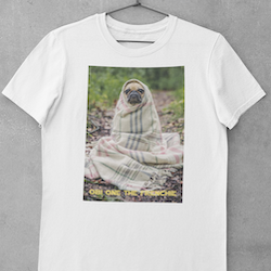 Obi One The Frenchie (txt) T-Shirt Herr