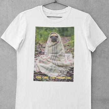 Obi One The Frenchie (txt) T-Shirt Herr