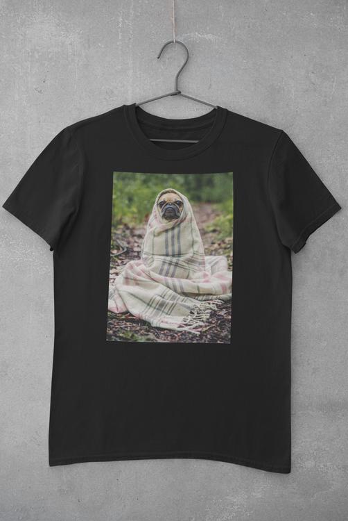 Fransk Bulldog Tshirt-French Bulldog Tshirt Svart