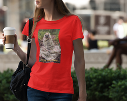 Obi One The Frenchie (txt) T-Shirt Dam