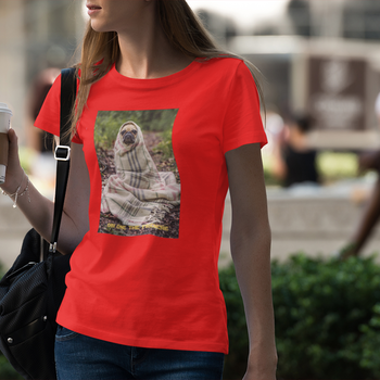 Obi One The Frenchie (txt) T-Shirt Dam