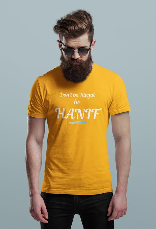 Hanif Bali Tshirt Herr-Orange, Tshirt Hanif Bali