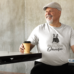 Fransk Bulldog Grandpa T-Shirt Herr