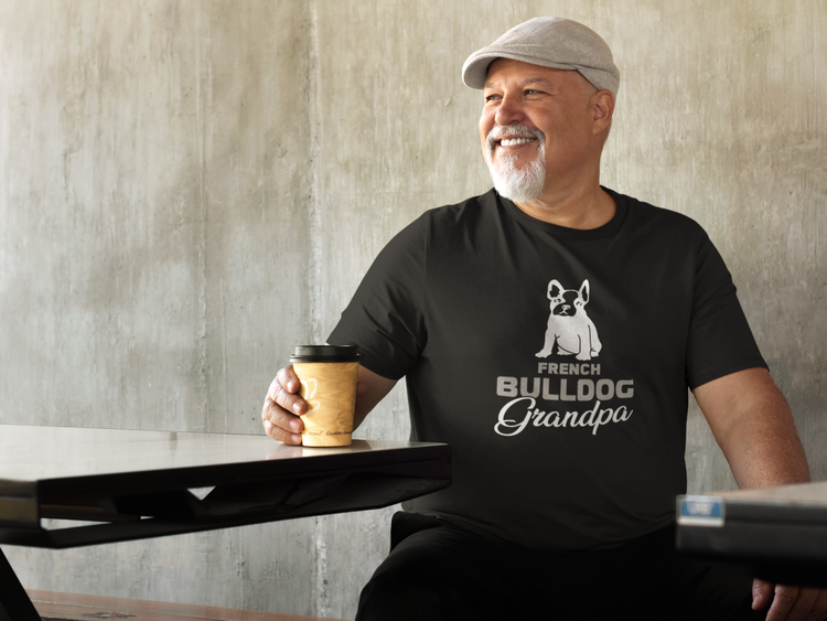 Fransk Bulldog Tshirt, French Bulldog Tshirt Men, French Bulldog Granpa Tshirt