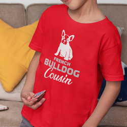 Fransk Bulldog Cousin T-Shirt Barn