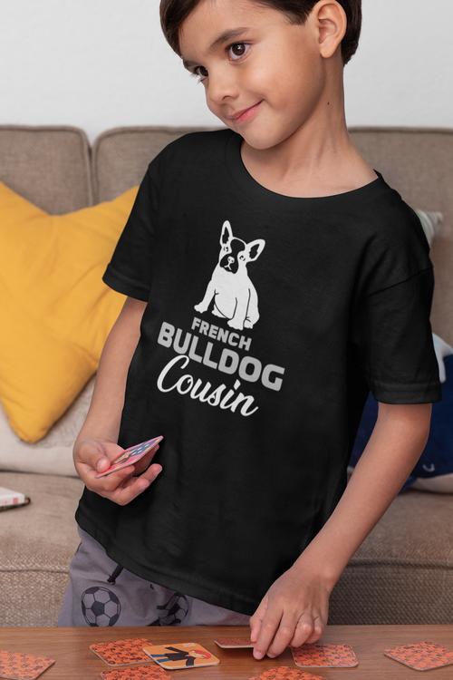 Fransk Bulldog Tröja Barn, French Bulldog T-Shirt Kid