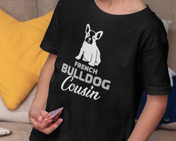 Fransk Bulldog Cousin T-Shirt Barn