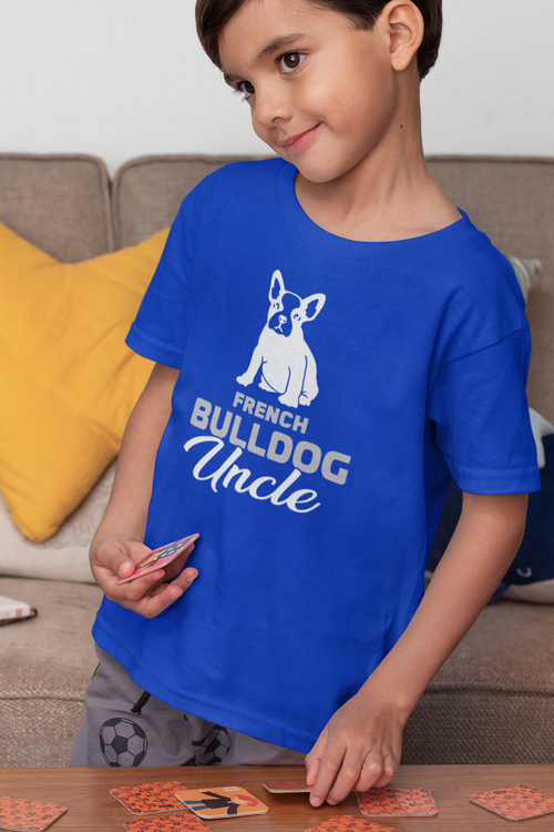 Fransk Bulldog Tshirt-French Bulldog Tshirt  Barn/Kid