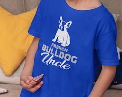 Fransk Bulldog Uncle T-Shirt Barn
