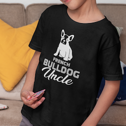 Fransk Bulldog Uncle T-Shirt Barn