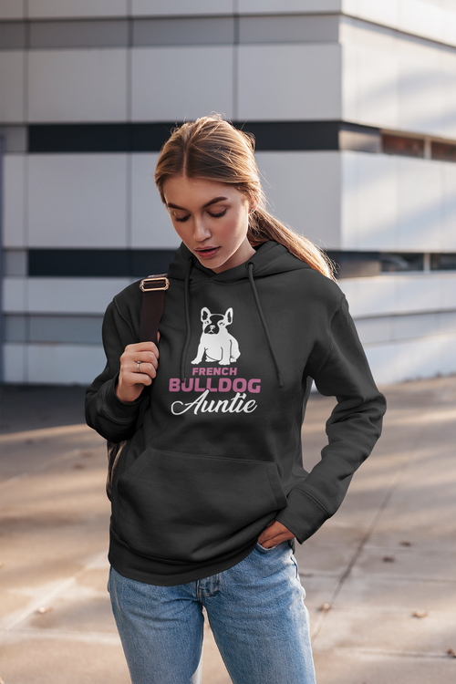 Fransk Bulldog Hoodie Women, Fransk Bulldog Hoodie