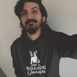 French Bulldog Grandpa Hoodie Herr