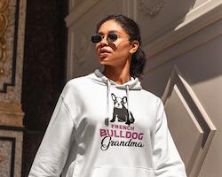 French Bulldog Grandma Hoodie Dam