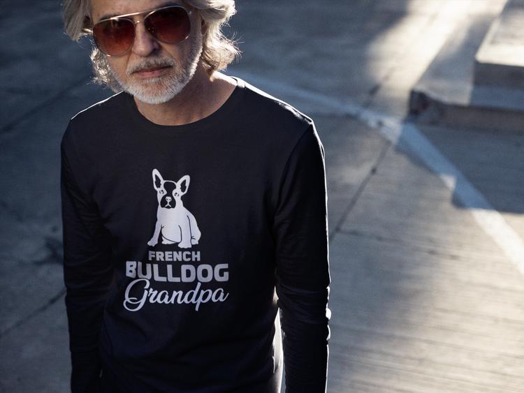 Fransk Bulldog Long Sleeve, French Bulldog Long Sleeve