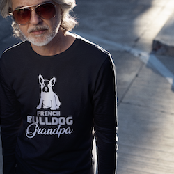 French Bulldog Grandpa Long Sleeve T-Shirt Herr