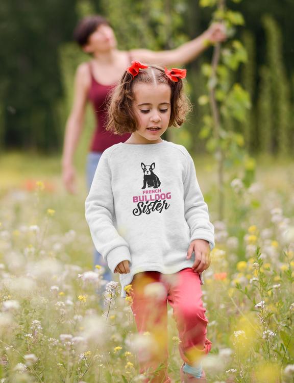 Fransk Bulldog Sweatshirt Barn, French Bulldog Sweater Kids